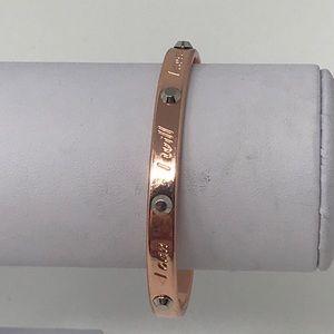 Mary kay i can i will i must cuff bracelet